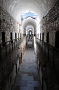 Architectural symmetry at the eastern state penitentiary former american prison in philadelphia pa refined Royalty Free Stock Image