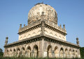 Architecturale tradities van de graven van qutub shahi hyderabad india Stock Foto