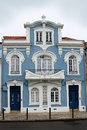 Architecture in aveiro portugal beautiful architecturall blue building the city center of Royalty Free Stock Photography