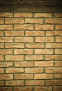 Architecture brick wall with wooden beam background closeup of brown as texture or architectural detail Stock Images