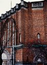 Sankt-Petersburg old building architecture brick wall church Royalty Free Stock Photo