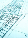 Architecture building plans, office building Stock Image