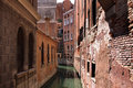 Architecture and a canal in Venice. Royalty Free Stock Image