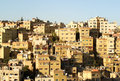 Architecture of city amman jordan view from opposite citadel Royalty Free Stock Photos
