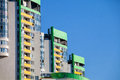 Architecture of the city modern in kiev house apartment house colored Royalty Free Stock Image