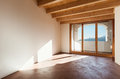 Architecture classic loft empty interior room view with porch Stock Photo