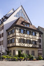 The architecture of colmar city in alsace france a half timbered house and others houses Royalty Free Stock Photography