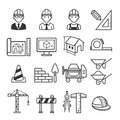 Architecture Construction Building icon set. Royalty Free Stock Photo