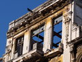 Architecture of cuba building restoration in old havana a world heritage site Royalty Free Stock Image