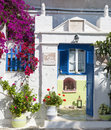 Architecture on the Cyclades. Greek Island buildings with her ty Royalty Free Stock Photo