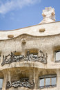 Architecture detail of casa mila better known as la pedrera in designed by antoni gaudi barcelona spain it s the best exponent Royalty Free Stock Images