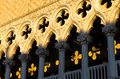 Architecture detail of doges palace at piazza san marco in venice or palazzo ducale italy Royalty Free Stock Image