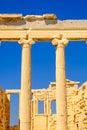 Architecture detail of Erechteion temple in Acropolis Royalty Free Stock Photo
