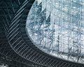 Architecture detail Modern Building Glass facade Exterior Royalty Free Stock Photo