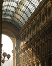 Architecture details of vittorio emanuele gallery in milan italy Royalty Free Stock Photography
