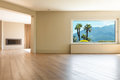 Architecture, empty living room Royalty Free Stock Photo