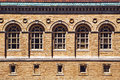 Architecture facade and windows of ancient renaissance Royalty Free Stock Photo