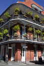 Architecture french quarter new orleans elaborate wrought iron balconies on building in Royalty Free Stock Images