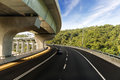 Architecture of highway construction with beautiful curves Royalty Free Stock Photo