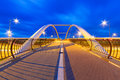 Architecture of highway viaduct at night in gdansk poland Royalty Free Stock Photography