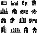 Architecture Icons Royalty Free Stock Photos