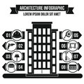 Architecture infographic concept, simple style