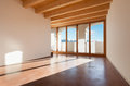 Architecture interior empty house classic loft room with porch Stock Images