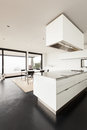 Architecture interior of a modern villa beautiful domestic kitchen Stock Photography