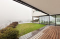 Architecture interior of a modern villa beautiful view from veranda Stock Photography