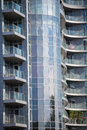 Architecture of kiev modern apartment buildings in the city center a mirrored facade Royalty Free Stock Photos