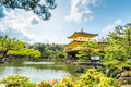 Architecture at Kinkakuji Temple The Golden Pavilion in Kyoto, Royalty Free Stock Photo