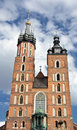 Architecture from krakow city poland Stock Photos