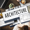 Architecture Layout Blueprint Build Constract Concept Royalty Free Stock Photo