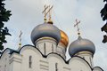 Architecture of Novodevichy convent in Moscow. Smolensk icon cathedral