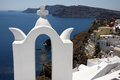 Architecture of Oia at Santorini island Royalty Free Stock Photography