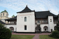 Architecture of old slavonic building big in novgorod severskiy Stock Photography