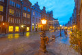 Architecture of old town in gdansk poland Royalty Free Stock Images