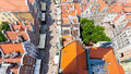 Architecture of old town in gdansk poland aerial view to Stock Photos