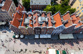 Architecture of old town in gdansk poland aerial view to Royalty Free Stock Images