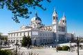Architecture- piękna Katedra Almudena Obrazy Stock