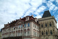 Architecture of prague beautiful architectural buildings in the czech capital Royalty Free Stock Photography