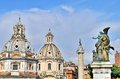 Architecture of rome with old statues and buildings Royalty Free Stock Photography