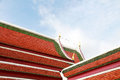Architecture roof of temple in Thai style Royalty Free Stock Photo