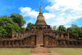 Architecture sukhothai buddha in thailand Royalty Free Stock Photo