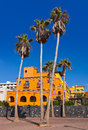 Architecture at tenerife island canaries vacation background Stock Image