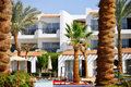 Architecture touristic resort summer time egypt Stock Photo
