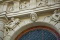 Architecture in vienna facade of the catholic church austria Stock Photos