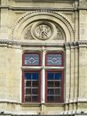 Architecture and windows of ancient renaissance style classical Royalty Free Stock Photo