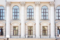 Architecture and windows of ancient renaissance style Royalty Free Stock Photo