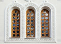 Architecture and windows of renaissance style building Royalty Free Stock Photo